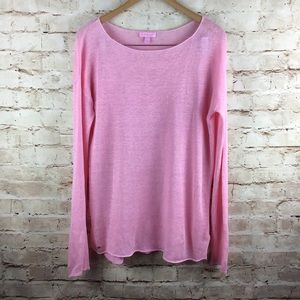 Lilly Pulitzer Womens Pink Sweater Linen Large